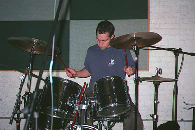 College Ross playing drums