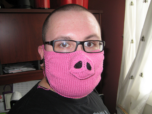 Swine Flu Knitted Mask