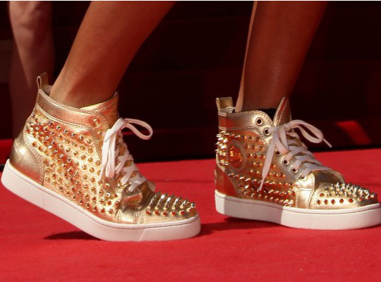 christian-louboutin-gold-studded-sneakers